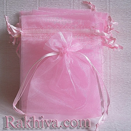 Organza bags pink