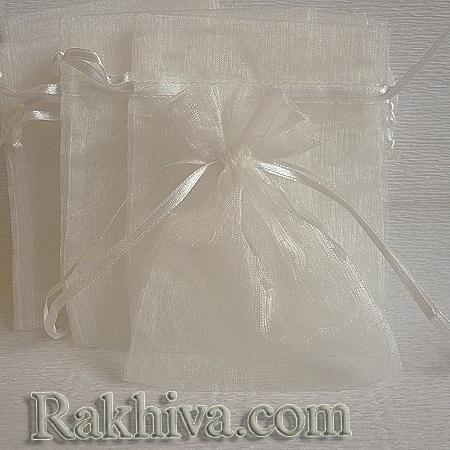 Organza bags ecru , 10 cm/ 12 cm, (10/12/8212 )