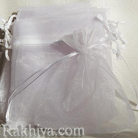 Organza bags white, 17 cm/23 cm (17/23/8210)