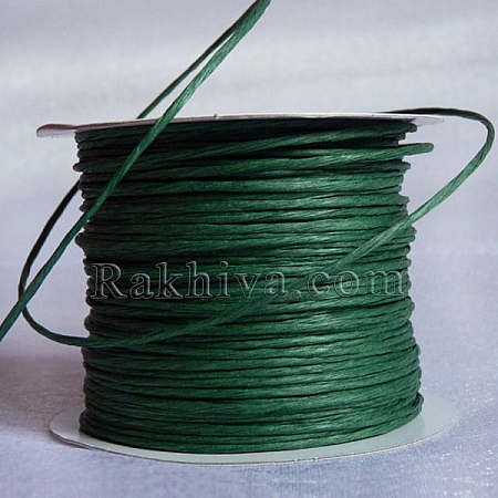 Paper rope (wired), dark green (2/50/6165) (roll 50 m)
