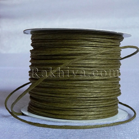 Paper rope (wired), olive (2/25/6163) (roll 22.5 m)