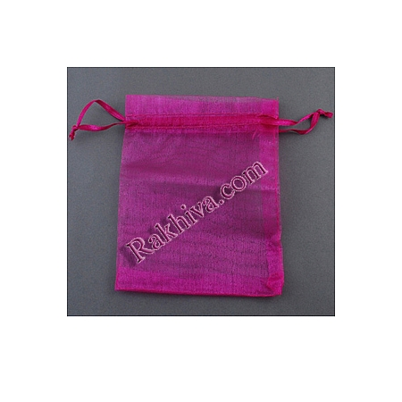 Organza bags dark hot pink