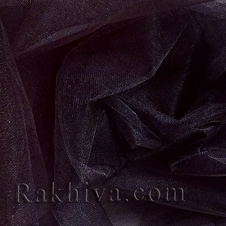 Crystal tulle - black, black 1 m (3 m2) 85/20