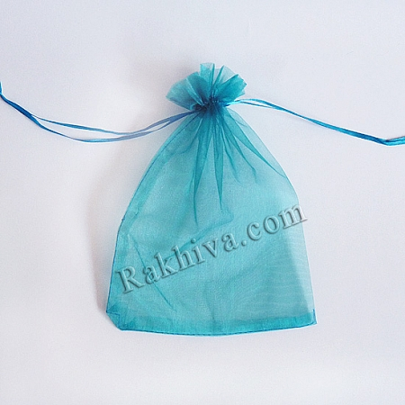 Organza bags turquoise, 7 cm/9 cm, (7/9/8257)