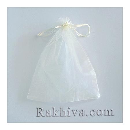 Organza bags champagne, 5 cm/7 cm,  (5/7/8213-1)