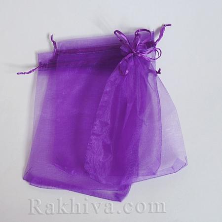 Organza bags dark purple, 7 cm/ 9 cm, (7/9/8295)