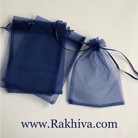 Organza bags dark blue