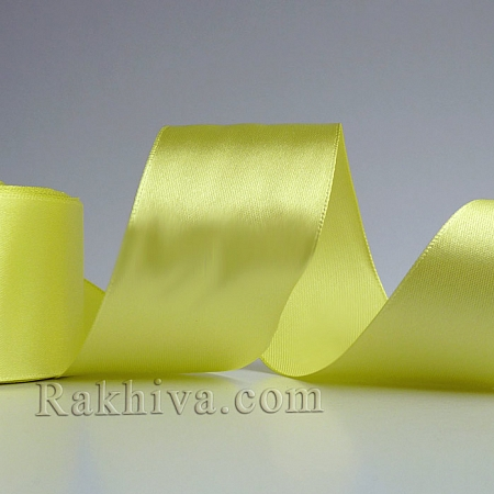 Satin ribbons - yellow, 37 mm/ 25 Y 210/(37/25/2373)