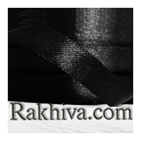 Satin ribbons - black, 3 mm/ 20 m 199/(3/20/2320)