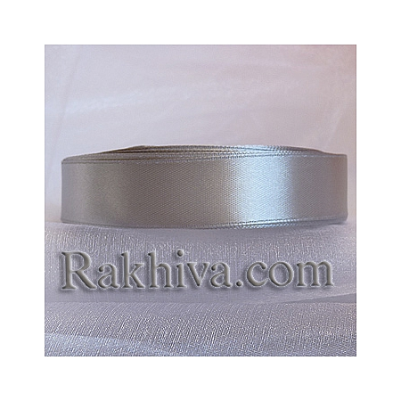 Satin ribbons - light gray, 3 mm/ 20 m 197/(3/20/2321)