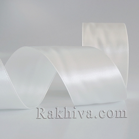 Satin ribbons - smoked white, 25 mm/ 25 Y 101/(25/25/2311)