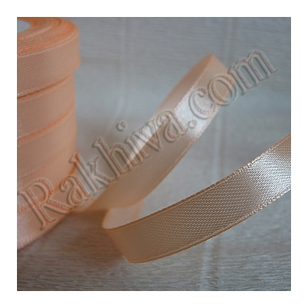 Satin ribbons - peach, 1 roll 6 mm/ 25 Y 124/(6/25/2348)