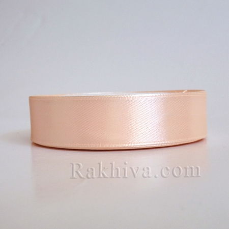 Satin ribbons - light peach, 1 roll 37 mm/ 25 Y (37/25/2348-2)