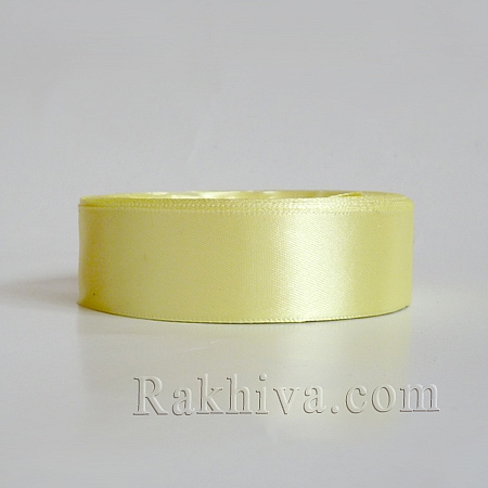 Satin ribbons - yellow, 25 mm/ 25 Y (25/25/2370-1)