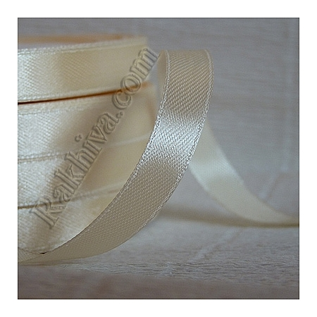 Satin ribbons - ecru, 3 mm/ 18 m 104/(3/18/2312-1)
