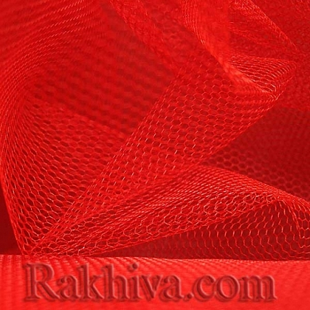 Tulle wedding - red, red (84/80)  (1 m)