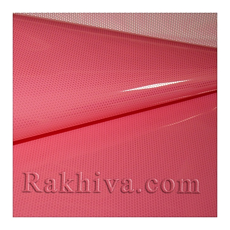 Gift wrapping cellophane, coral  (50/50/51344)