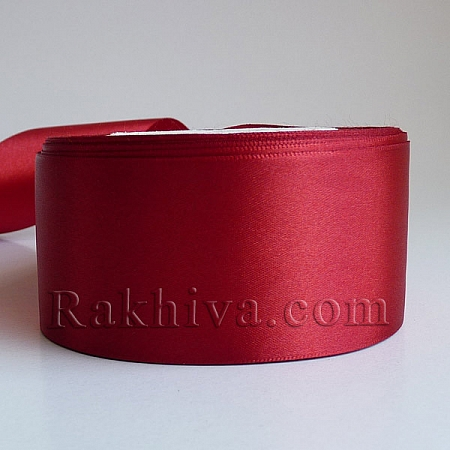 Satin ribbons - dark red, 3 mm/ 20 m, 3/20/2382