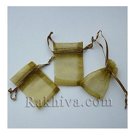 Organza bags gold, 5 cm/ 7 cm, (5/75/82200-1)