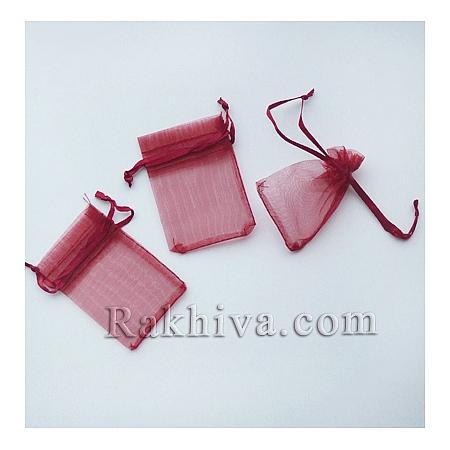 Organza bags burgundy, 5 cm/7 cm, (5/7/8286-1)