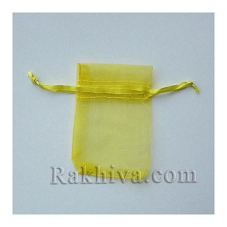 Organza bags yellow, 5 cm/7 cm, (5/7/8270-1)