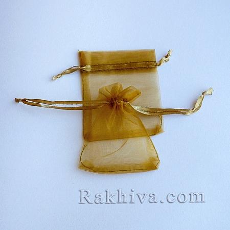 Organza bags gold, 7 cm/ 9 cm, (7/9/84200)