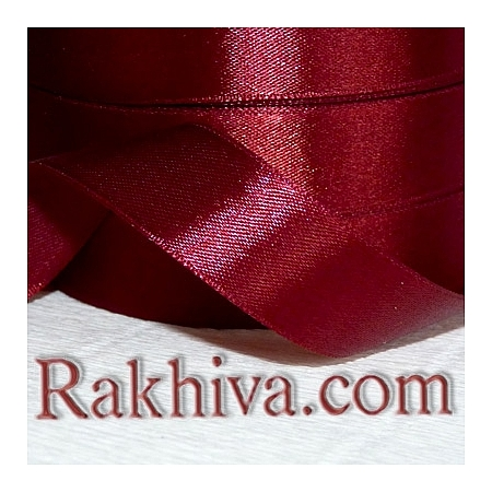 Satin ribbons - bordeaux, 3 mm/ 18 m 196/(3/18/2386)
