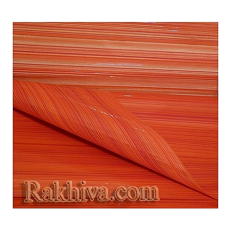 OPP wrapping paper Elegance (bicoloured), orange, red  (50/50/11375-80)