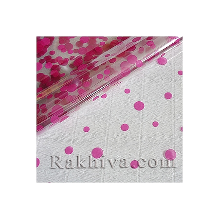 OPP wrapping paper Glee, dark pink (50/50/8145)