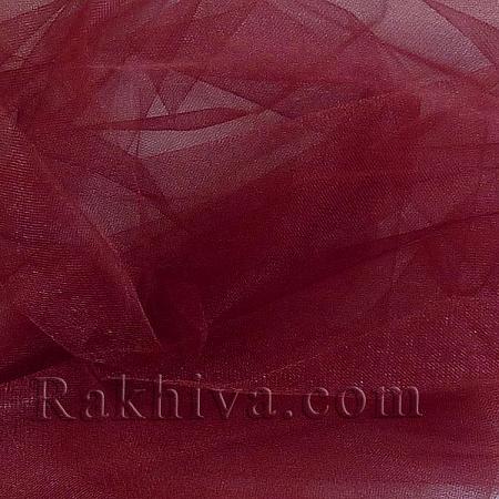 Crystal tulle burgundy, burgundy 1 m (3 m2) 85/86