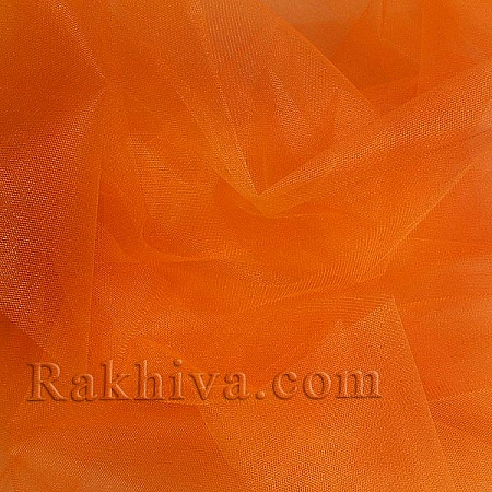 Crystal tulle orange, orange 1m (3 m2) 85/75