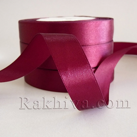 Satin ribbons - plum, 1 roll 6 mm/ 25 Y 178/(6/25/2399)
