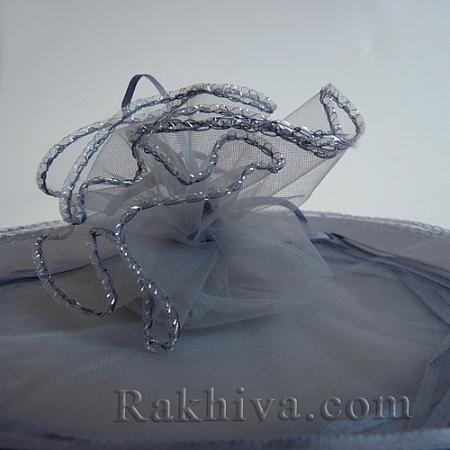 Organza bags circle silver, 26 cm, (26/84300)