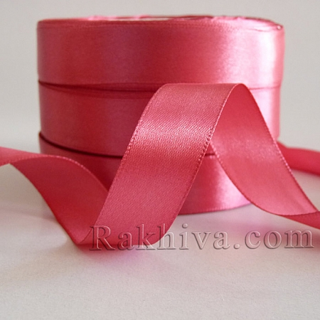 Satin ribbons - dark rose, 1 roll 6 mm/ 25 Y 193/(6/25/2344-2)