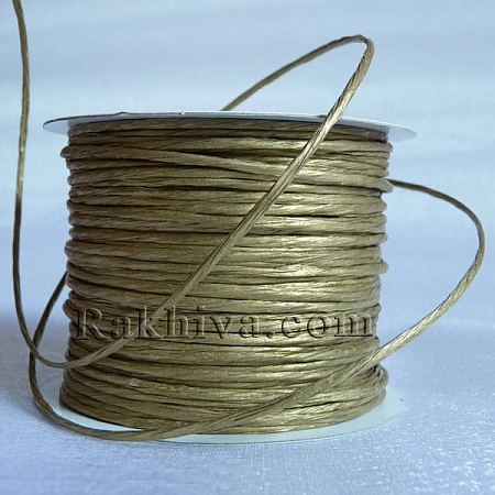 Paper rope (wired), gold (2/25/61200) roll 22,5 m