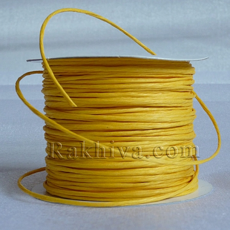 Paper rope (wired), yellow (2/25/6172) (roll 22,5m)