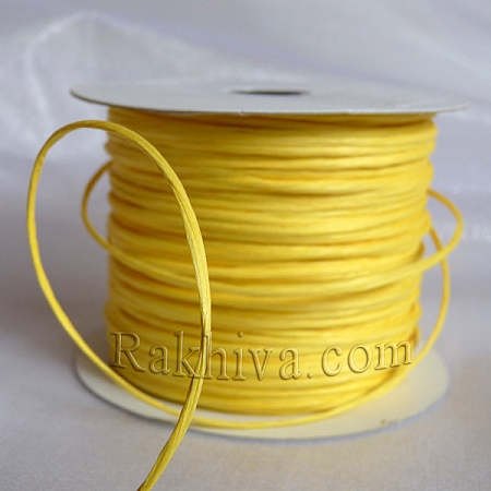Paper rope (wired), lt. yellow (2/25/6170) (roll 22,50m)