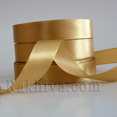 Satin ribbons - light gold, 3 m/ 20 m 110/(3/20/23202)