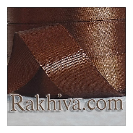 Satin ribbons - brown, 3 mm/ 20 m 114/(3/20/2334)