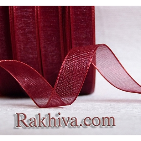 Ribbons - organza, bordeaux (6mm/ 20 m) (6/20/2286)