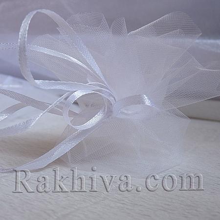 Organza bags circle white, 26 cm, (26/8410)