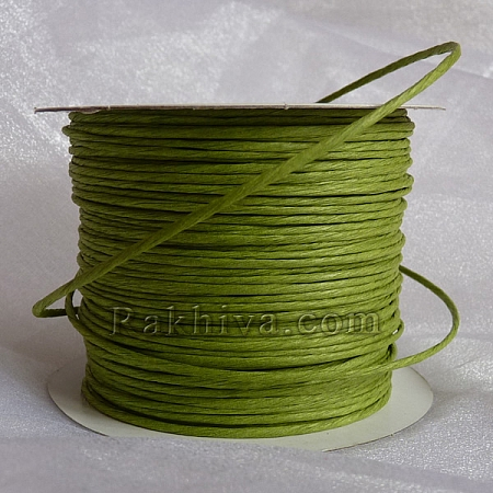 Paper rope (wired), pea green (2/25/6162) (roll 22,50m)