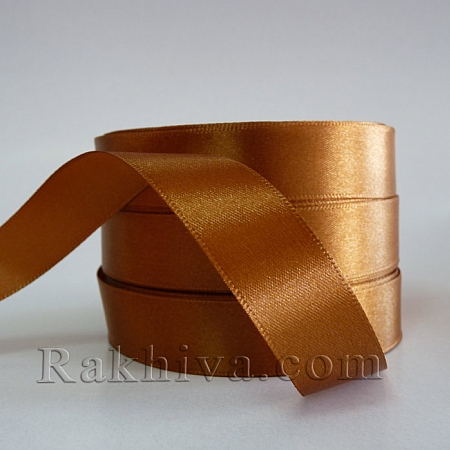 Satin ribbons - light brown, 1 roll 6 mm/ 25 Y 112/(6/25/2335)