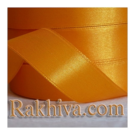 Satin ribbons - light orange, 6 mm/ 25 Y 126/(6/25/2375)