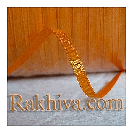 Satin ribbons - dark orange, 3 mm/ 20 m (3/20/2376)