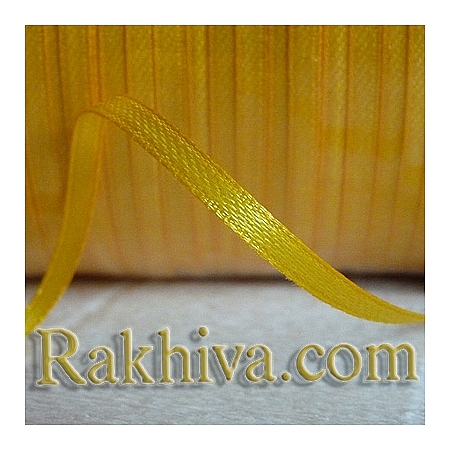 Satin ribbons - yellow, 3 mm/ 20 m 128/(3/20/2372)