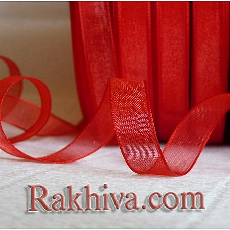 Woven ribbons, 1 roll red (6mm/20 m)  (6/20/2280)
