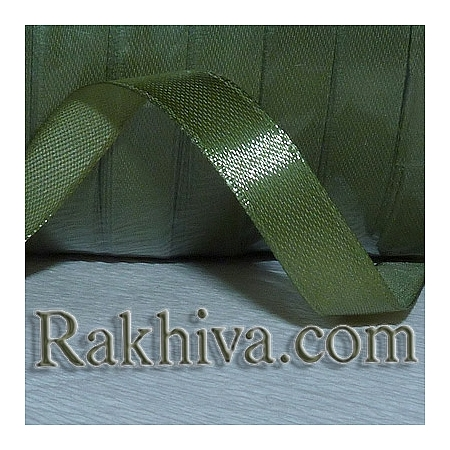 Satin ribbons - green, 6 mm/ 25 Y 148/(6/25/2366)