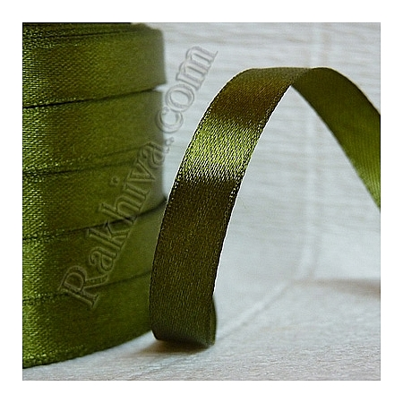 Satin ribbons - green, 6 mm/ 25 Y 146/155/(10/25/2367)