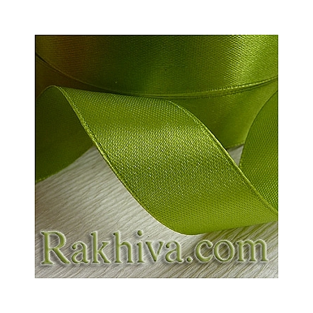 Satin ribbons - dark lime green, 6 mm/ 25 Y (6/25/2364)